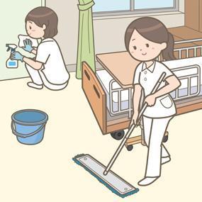 都内での病院内清掃のお仕事になります!!